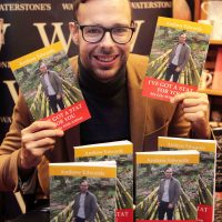 Andrew Edwards launched his his new book. 'Ive Got A Stat for You'. At Waterstones Book Store, Wrexham on Friday.